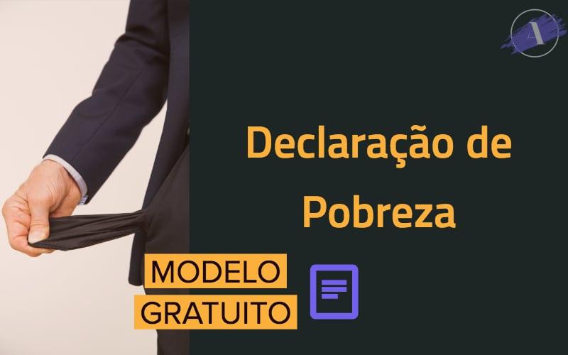 Declaração De Hipossuficiência Pobreza Modelo Ncpc