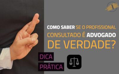 Como saber se o profissional consultado é realmente advogado?