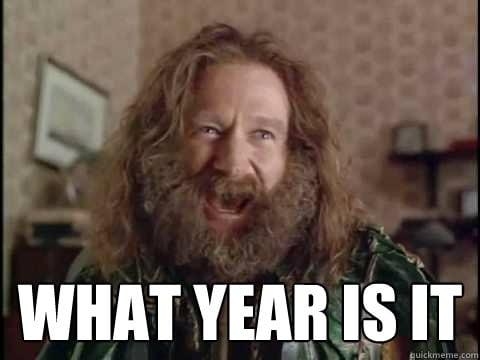 """""""Que ano é este?"""""""