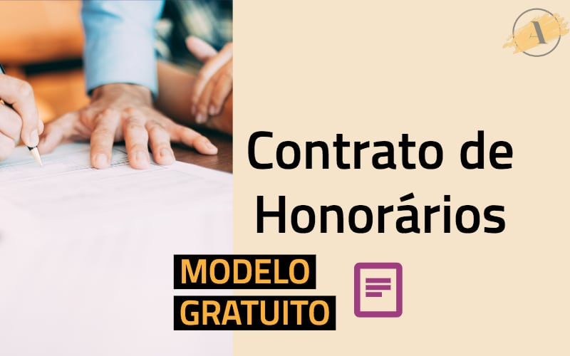 Modelo gratuito - contrato de honorários advocatícios