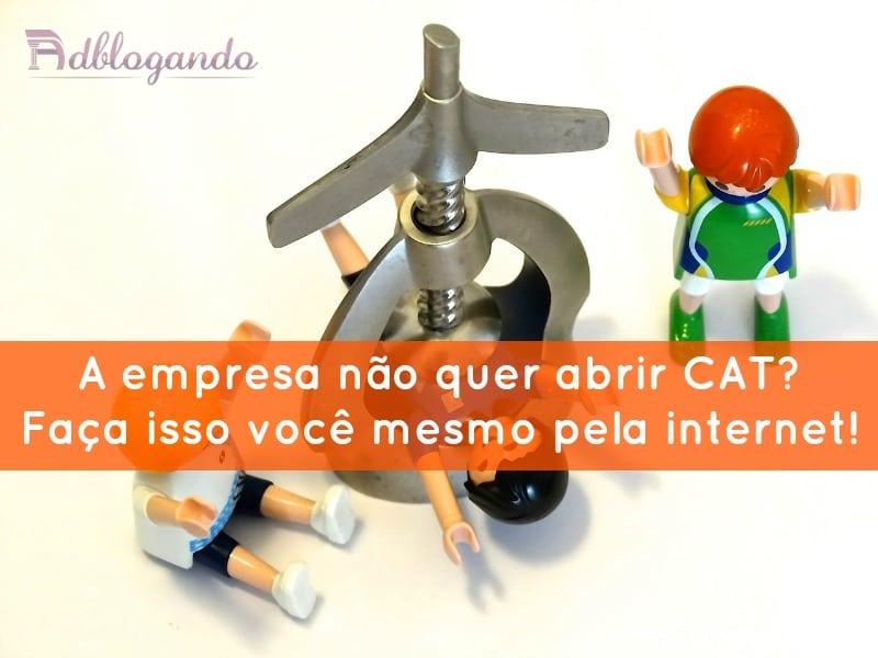 CAT - comunicação de acidente de trabalho pela internet