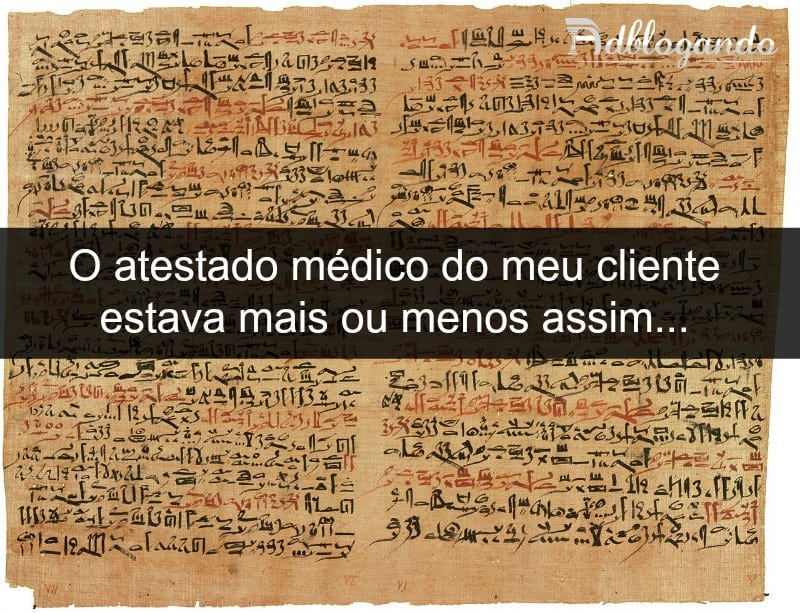 Letra de médico x Hieróglifos egípcios