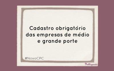 Cadastro obrigatório para intimação online (NCPC)