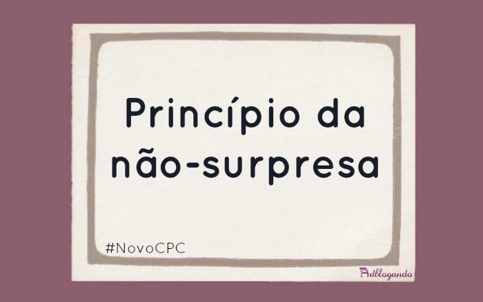 Princípio da não-surpresa no Novo CPC