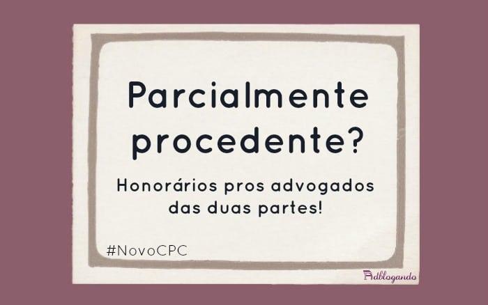 Sucumbência parcial no NCPC