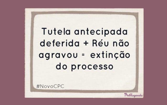 Tutela antecipada estável do NCPC