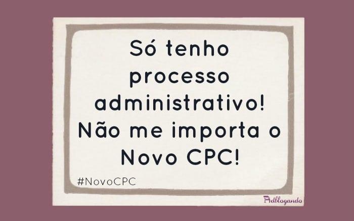 Processo administrativo Novo CPC