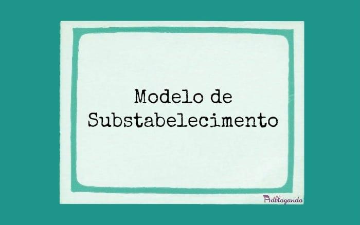Modelo de Substabelecimento