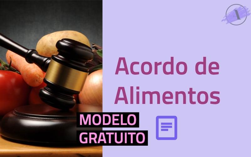 Modelo de petição de acordo de alimentos